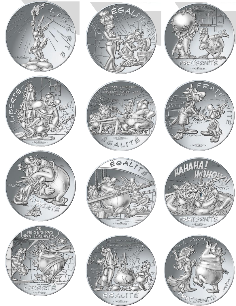 monnaie de paris 10 euros argent asterix